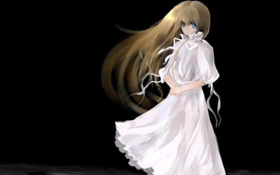 anime, платье, девушка