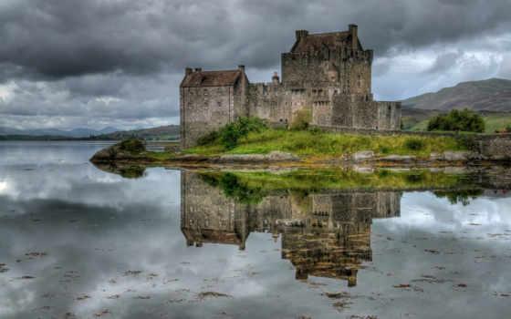 castle, eilean, донан, шотландия, fortress, turret,