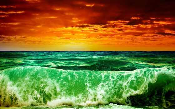 море, буря, волны