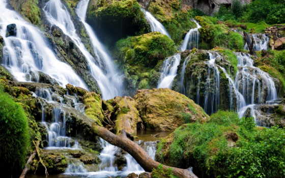 ipad, часть, красивыми, экрана, водопадами, украшения, картинка, водопады, марк, landscape,