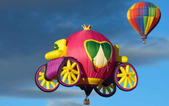 balloon, розовый, desktop, balloons, high,