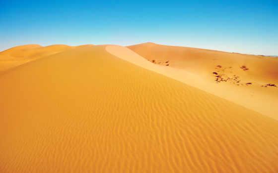 yellow, песок, пустыня, links, природа, landscape, blue, dunes,