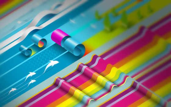 абстракция, color, красочная