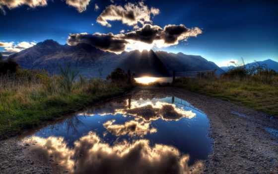 hdr, photography, природа, landscapes, clouds, reflections, mountains, free,