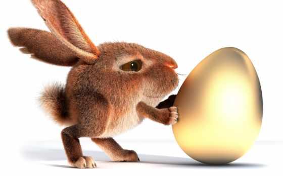 кролик, пасхальный, easter, яйцо, яйцом, abali,