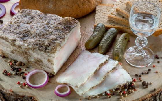 fat, хлеб, sala, специи, продукты, чеснок, огурцы, засолки, еда, куски,