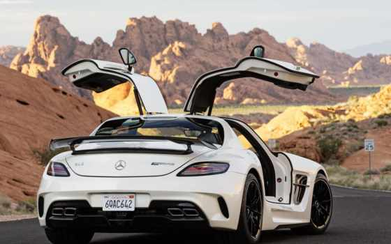 mercedes, sls, amg, benz, black,