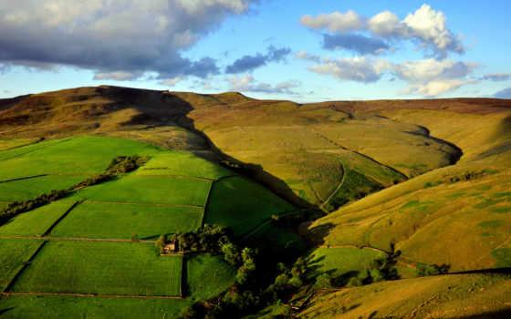 природа, взгляд, margin, верху, пейзажи -, сверху, холмы,