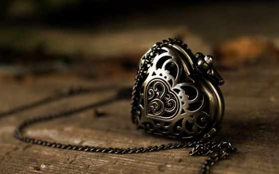 металл, подвеска, цепь, кулон, pattern, сердце, макро,