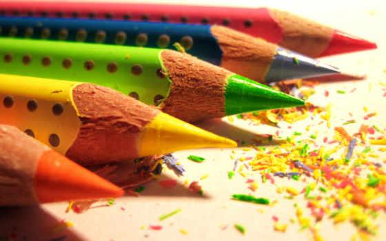 карандаши, цветные, pencils, colored, восковые, mechanical, simple, pencil, waxy, multicolored,