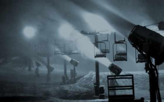 снег, огни, car, оттенки, кабель