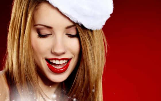 девушка, санта, clau, sexy, christmas, wear