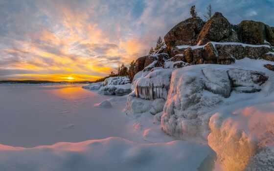winter, закат, фотограф, klippe, season, ладога, sun, абхазия, фёдор
