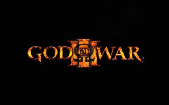 god, war, iii, game, que, logo,