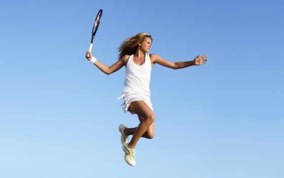 теннис, прыжок