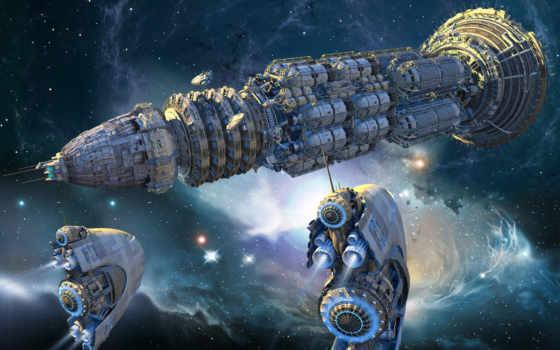 космический, корабль, разделе