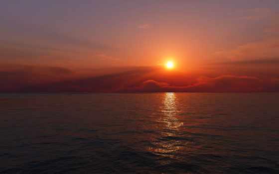 sun, природа, горизонт