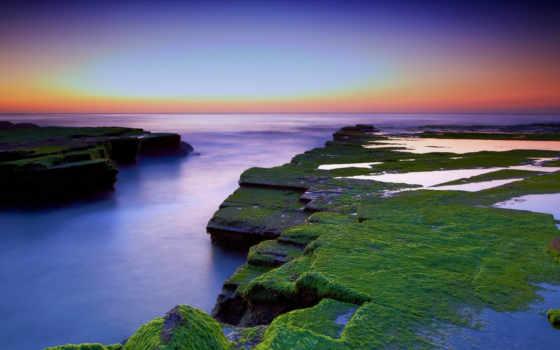природа, красивая, закат