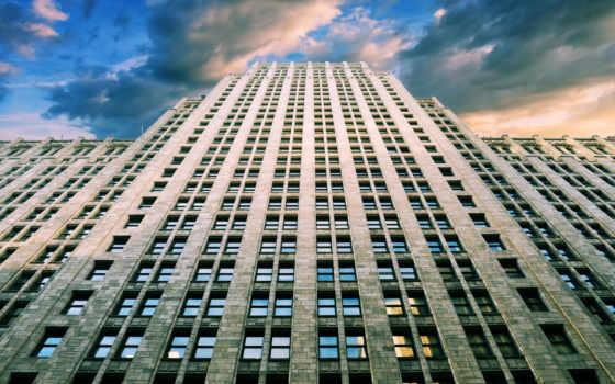 билдинг, эмпайр, стейт, небоскрёб, этажный, high, building,
