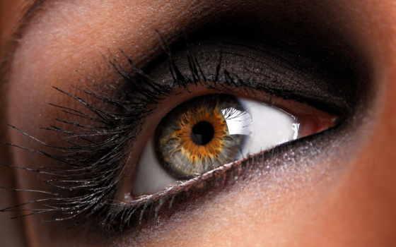 глаз, серый, зрачок, ресницы, девушка,