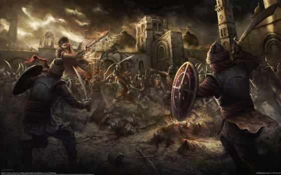 fortress, битва, армия, art, castle, оружие, магия, dome, кросс, город,