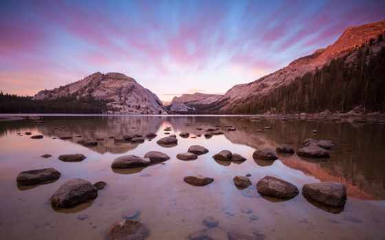 mac, yosemite, горы, природа, apple, эпл, река, landscape, теме, отражение,