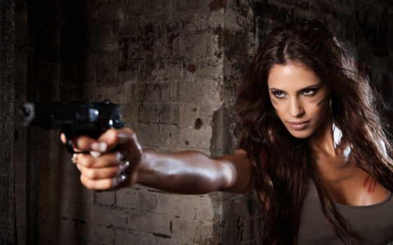 девушка, стреляет, пистолет, пистолета, guns, girls, прикол,