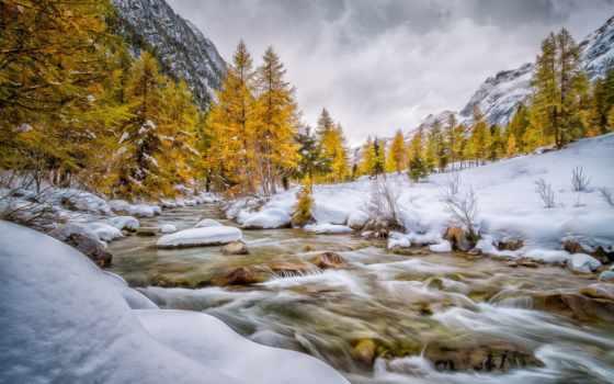 bever, val, winter, река, schweiz, engadin, гора, снег, графики, дизайна,
