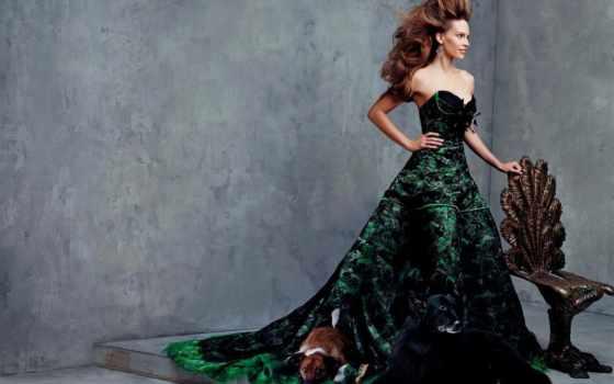 платье, hilary, суэнк, темно, пышное, впереди, платья, актриса, бальном, пышные, зеленое,