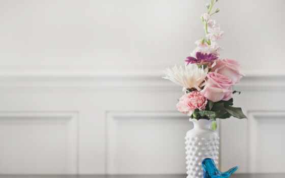 цветы, ваза, букет, cvety