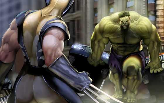 hulk, wolverine