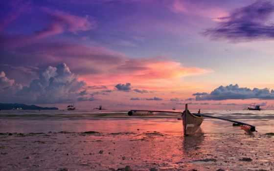 закат, филиппинах, лодка, филиппины, фотографии, океан, остров, landscape, берег,