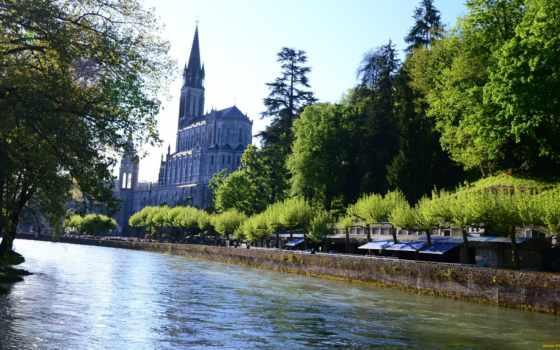 готика, река, парк