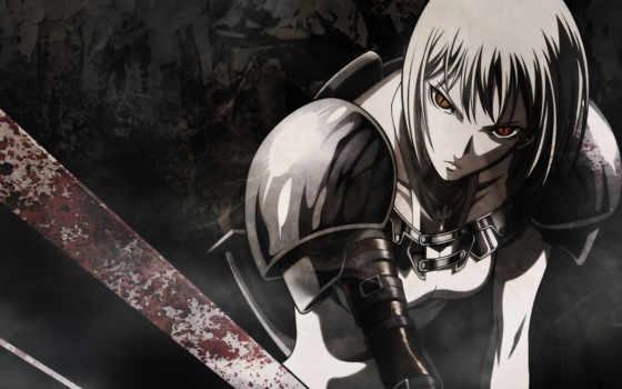 anime, девушка, воин