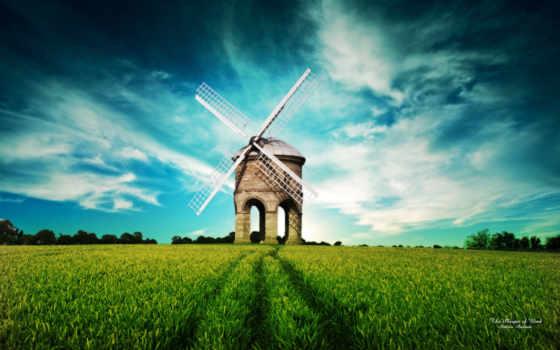 поле, mill, природа