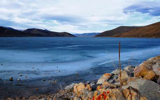 winter, море, природа