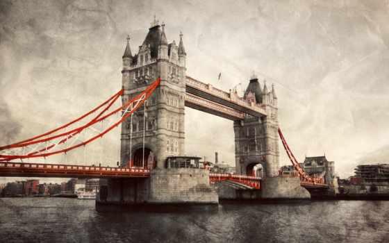 мост, башня, london, великобритания, тауэрский, англия,