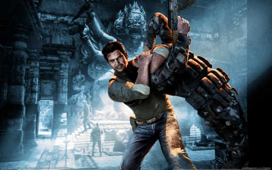 uncharted, thieves, among, игры,