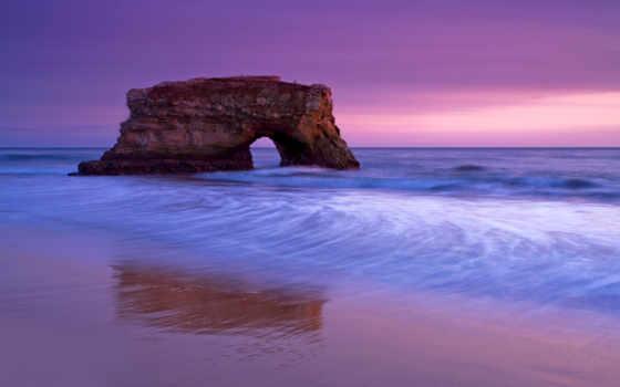небо, море, пляж, берег, вечер, камни, ocean, песок, landscape, скалы, state,