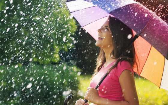 дождь, девушка, зонтик, happy, photography, images, photos,