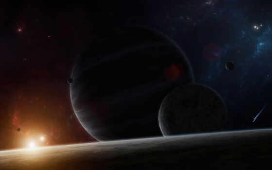 cosmos, planet, stars, планеты, космос, звезды, картинка, систем, свечение, star,