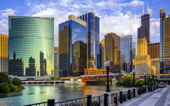 chicago, сша, ultra, город, иллинойс,