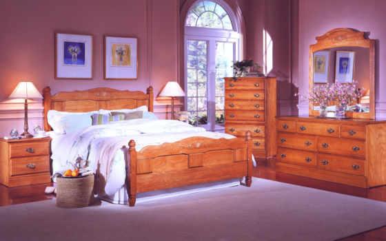 oak, bed