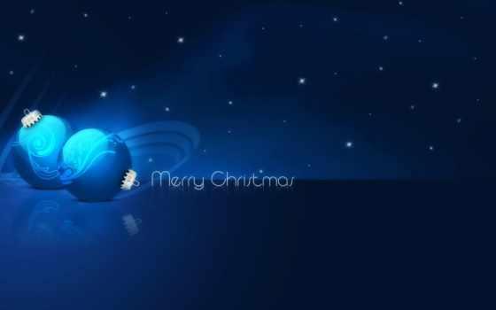 christmas, merry, blue