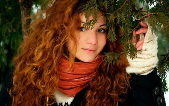 рыжие, devushki, волосы