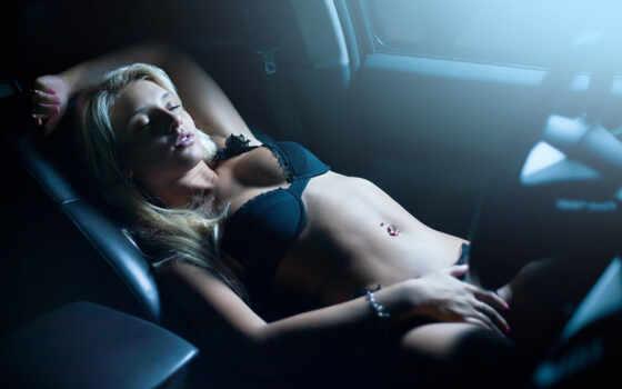 девушка, авто, девушки, blonde, car, салон, руль,