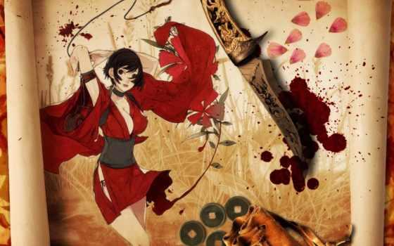 red, картинка, ninja, full, kaguya, волосы, fan, конец,