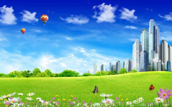 город, будущего, fantastic