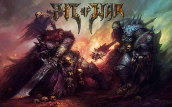 пит, викинги, war, черепа, бой,