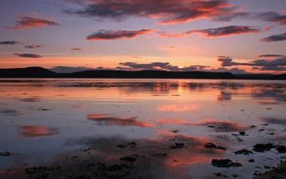 спокойствие, water, ago, лет, flickr, озеро, pintado, oblaka, отражение, puesta, del,